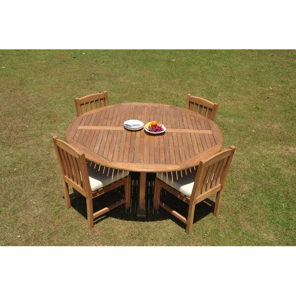 Dawnview 5 Piece Teak Dining Set by Rosecliff Heights
