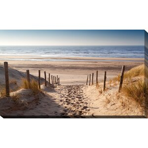 'Path to Ocean' Photographic Print on Wrapped Canvas by Picture Perfect International