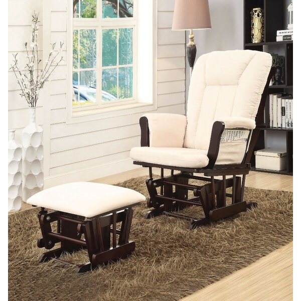 Crick 2 Piece Glider and Ottoman by Harriet Bee