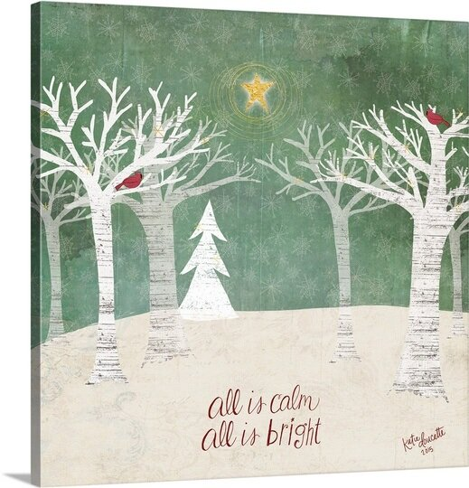 Christmas Trees Painting Print On Wrapped Canvas By The Holiday Aisle.