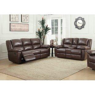 Faiyaz 2 Piece Faux Leather Reclining Foam Living Room Set by Red Barrel Studio®