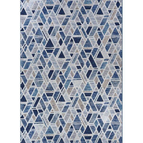 Sappington Bricks Graffiti Blue/Gray Area Rug by Wrought Studio