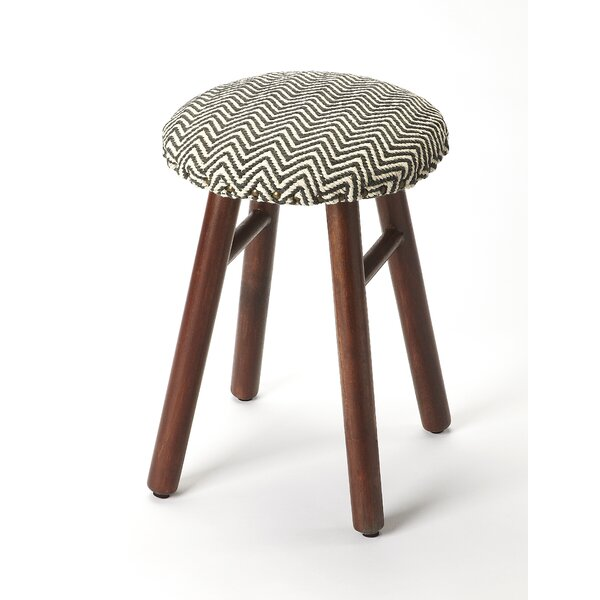 Reeser Solid Wood Accent Stool By Bungalow Rose