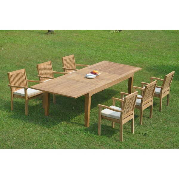 Detroit 7 Piece Teak Dining Set by Rosecliff Heights