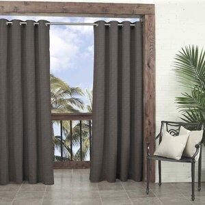 Key Largo Solid Room Darkening Thermal Outdoor Grommet Single Curtain Panel