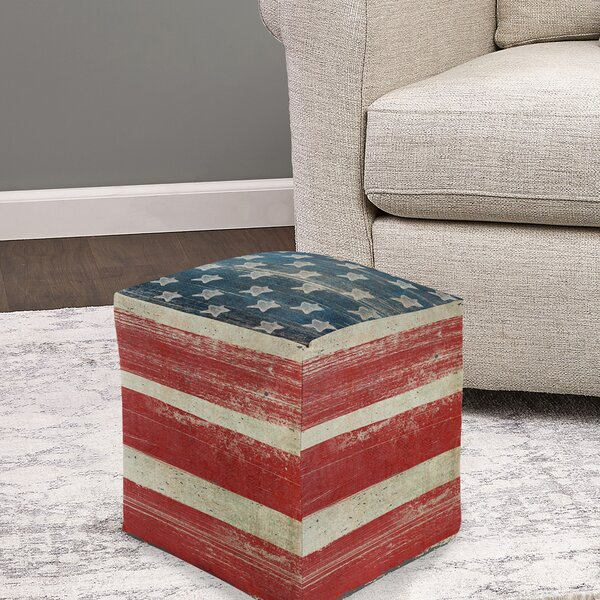 Alanson Pouf by August Grove