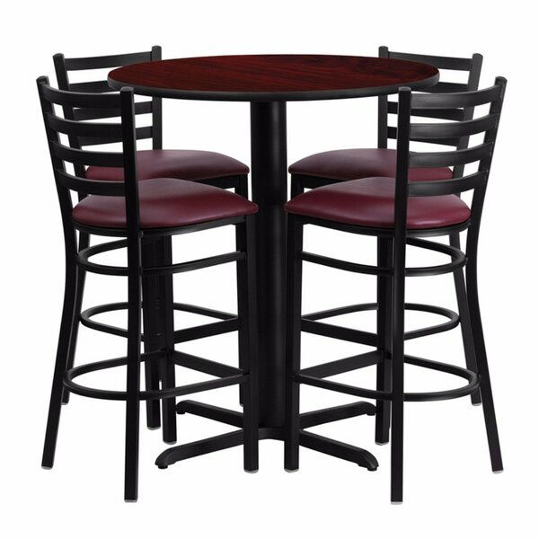 Alvarez Round Laminate 5 Piece Pub Table Set by Red Barrel Studio
