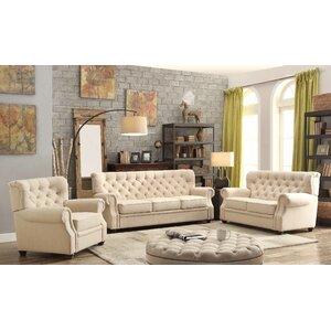 Ventura 3 Piece Living Room Set by Mulhouse Furniture