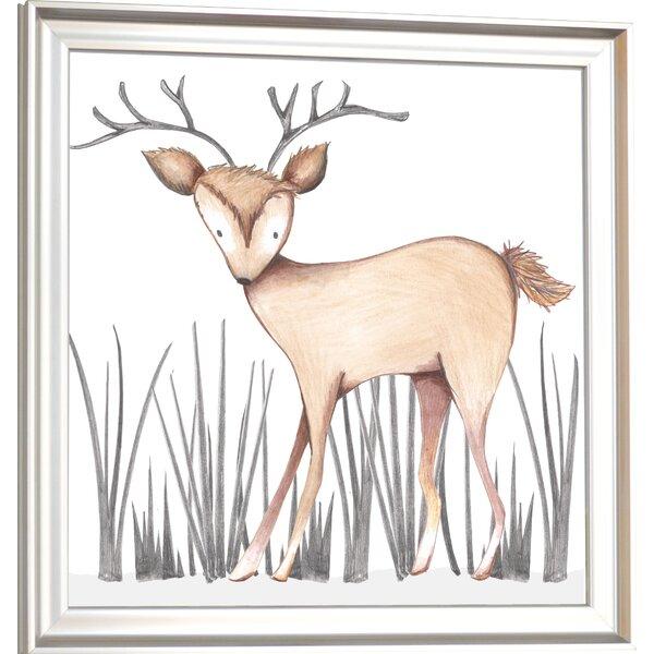 Forest Dawson Deer Framed Art by Doodlefish