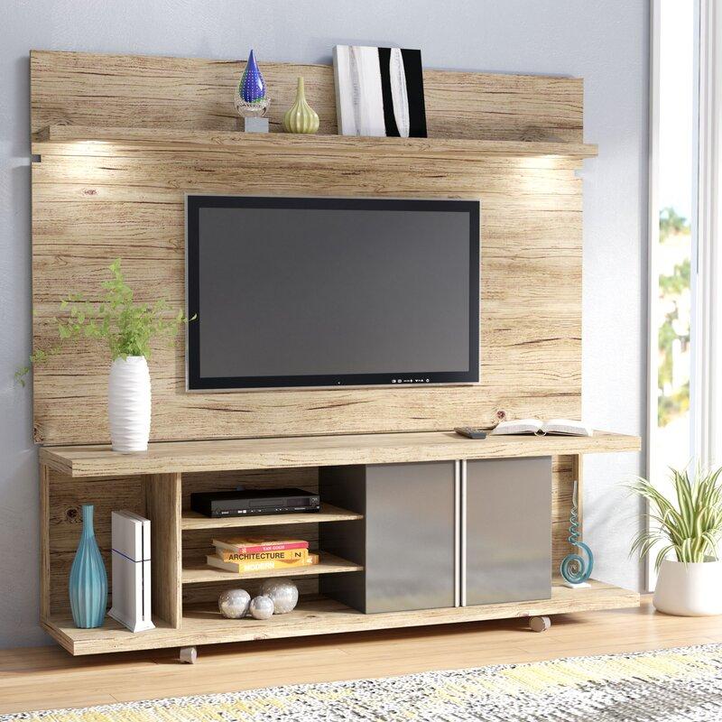 Living Room Entertainment Furniture: Wade Logan Lucca Entertainment Center & Reviews