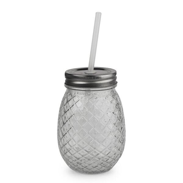 Aberdeen Pineapple 16 oz. Glass Mason Jar (Set of 4) by Bay Isle Home