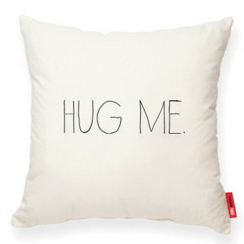 Expressive Hug Me Decorative Cotton Throw Pillow by Posh365