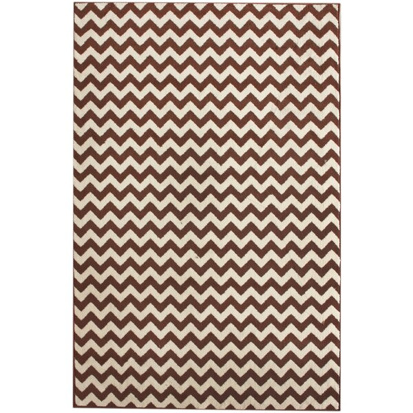 Allure Brown/Ivory Chevron Area Rug by nuLOOM