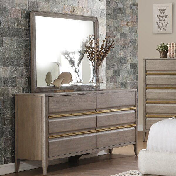 Mcchesney 6 Drawer Dresser with Mirror by Wrought Studio