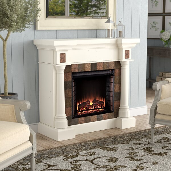 Clatterbuck Electric Fireplace by Fleur De Lis Living