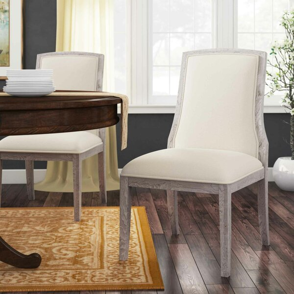 Criteria Upholstered Side Chair in Off White by Bernhardt Bernhardt