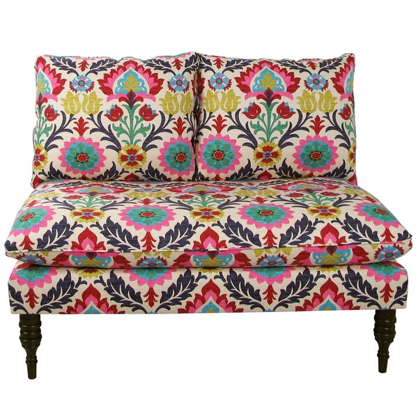 Modern Brand Helotes Loveseat by Bungalow Rose by Bungalow Rose