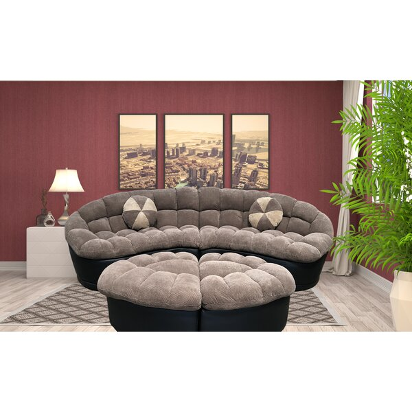 Jedidiah Sectional with Ottoman by Latitude Run