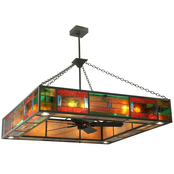 Gallimore 20 - Light Unique / Statement Rectangle Chandelier by Loon Peak Loon Peak