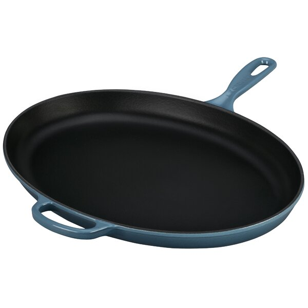 Enameled Cast Iron Signature 15.75 Skillet by Le C