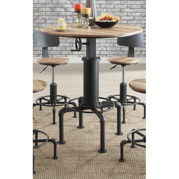 Angelica Adjustable Pub Table by 17 Stories