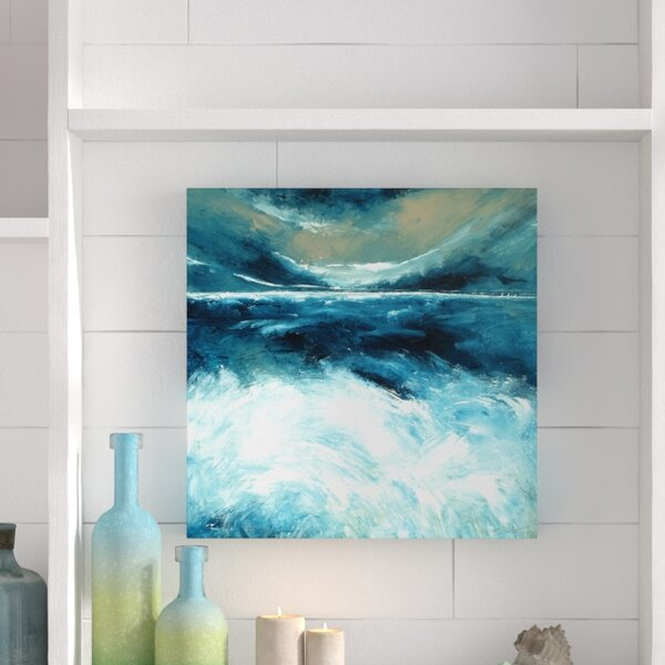 Winter Norfolk Sea Painting Print On Wrapped Canvas By Beachcrest Home.