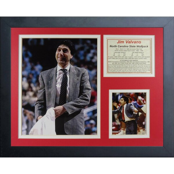 Jim Valvano NC State Wolfpack Framed Memorabilia by Legends Never Die