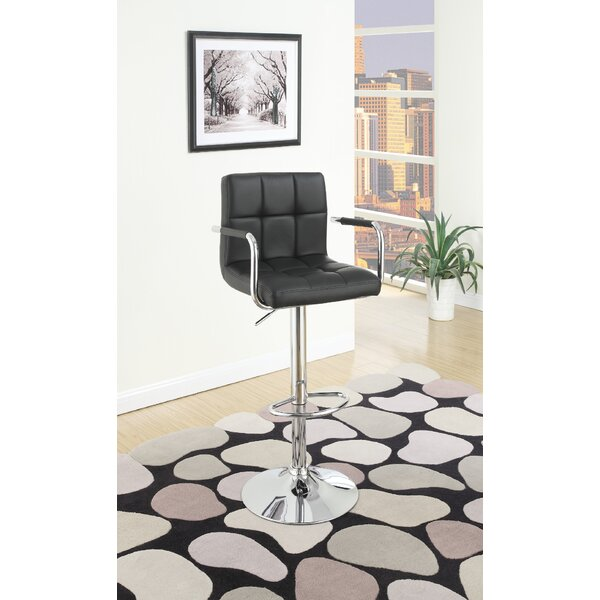 Cremeans Adjustable Height Swivel Bar Stool (Set of 2) by Orren Ellis