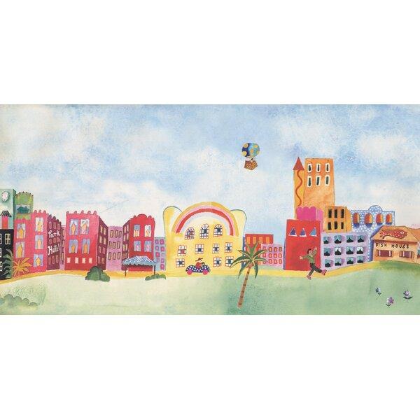 Jarboe Cartoon Town Wallpaper Border by Zoomie Kid