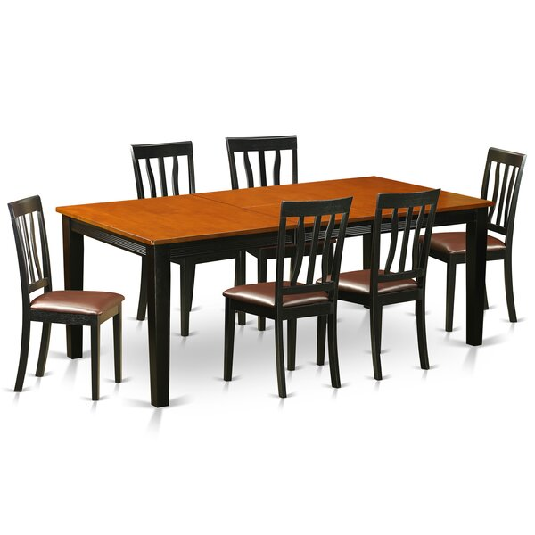 Loraine 7 Piece Solid Wood Dining Set by Red Barrel Studio