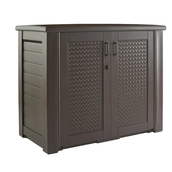 Patio 123 Gallon Plastic Cabinet by Rubbermaid Rubbermaid