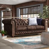 Worcester Leather Chesterfield Sofa by Trent Austin Design®