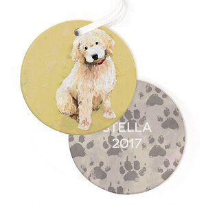 Personalized Best Friend Doodle Hanging Ornament