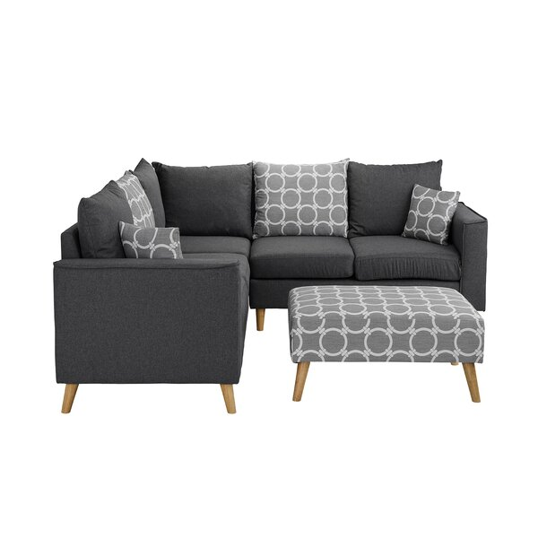 Alizeh Sectional with Ottoman by Grovelane Teen