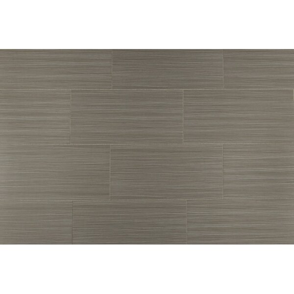 Bamboo 12 x 24 Porcelain Field Tile in Gris Linen by Travis Tile Sales