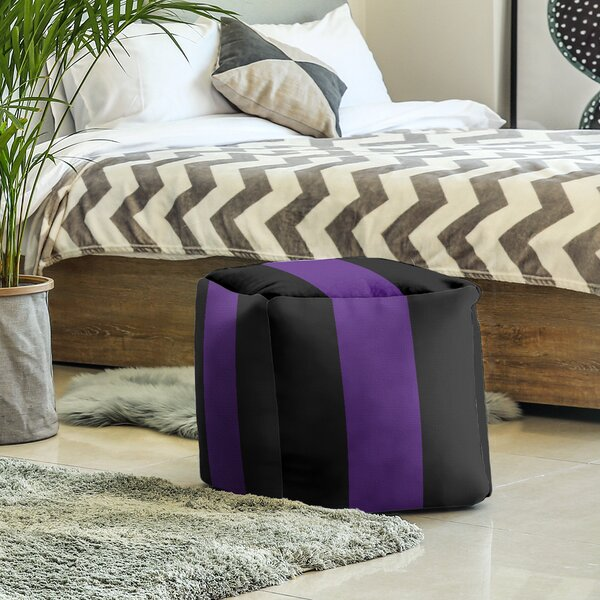 Texas Fort Worth Stripes Cube Ottoman by East Urban Home East Urban Home