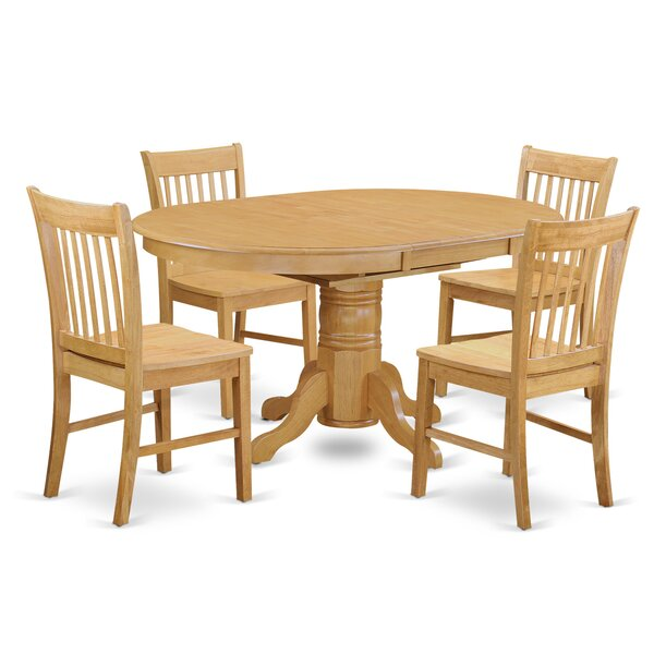 Emmaline 5 Piece Solid Wood Dining Set By Alcott Hill Read Reviews