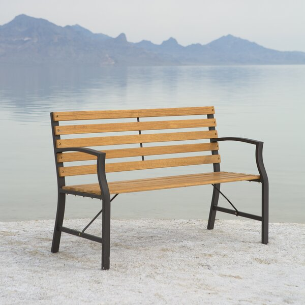 Greyson Outdoor Steel Garden Bench by Gracie Oaks