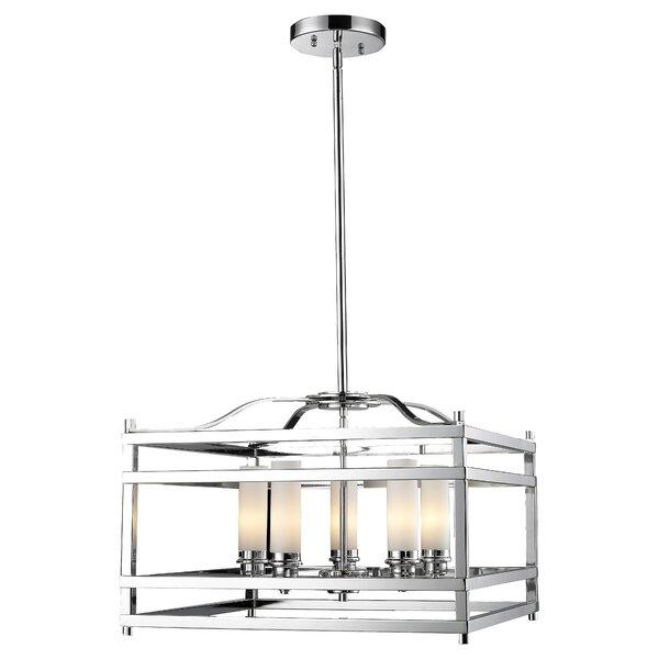 Humiston 5 - Light Lantern Rectangle Chandelier by Bloomsbury Market Bloomsbury Market
