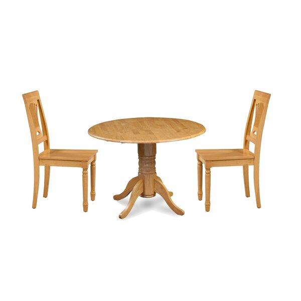 Kelston Mills 3 Piece Drop Leaf Solid Wood Dining Set by Alcott Hill