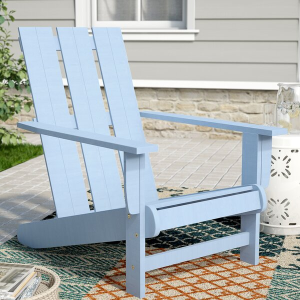 Duckett Solid Wood Adirondack Chair by Highland Dunes Highland Dunes