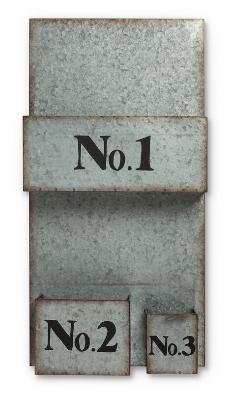 "Metal Wall File the gerson companies lone elm studio 13"" x 26"" x 3.5"" galvanized"