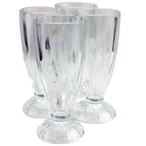 Nickolas 12 oz. Glass Pint Glass (Set of 4) by Charlton Home