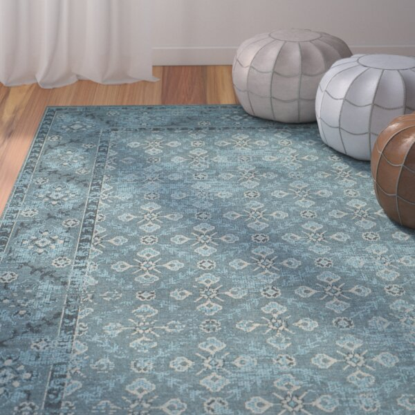 Blue/Grey Area Rug by Bungalow Rose