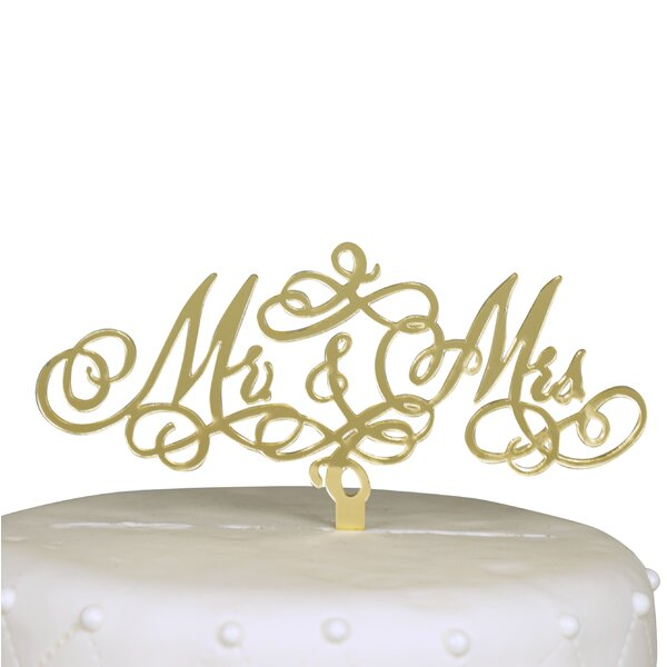 Mr. & Mrs. Acrylic Cake Topper by Unik Occasions