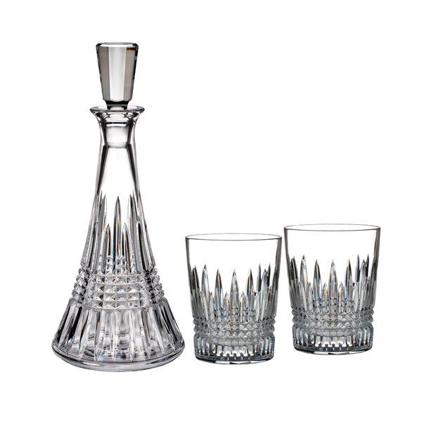 Lismore Diamond 3-Piece Decanter Set by Waterford