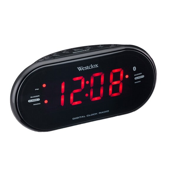 Bluetooth LED Speaker Alarm Clock by Westclox Clocks