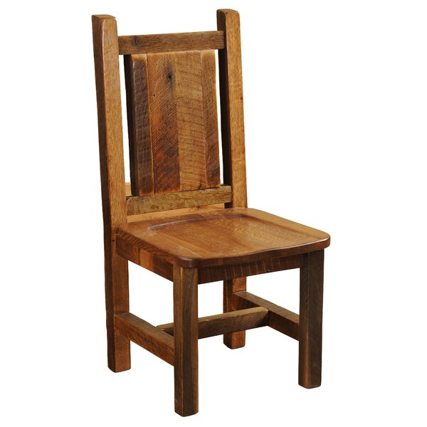 Artisan Barnwood Solid Wood Dining Chair by Fireside Lodge Fireside Lodge