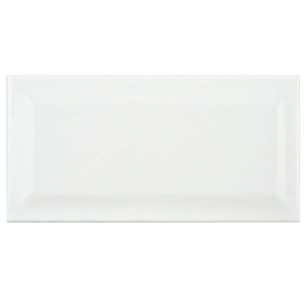 Prospect Beveled 3 x 6 Ceramic Subway Tile in Glossy White by EliteTile