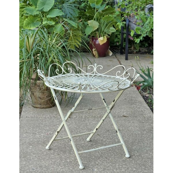 Maura Folding  Metal Bistro Table by August Grove